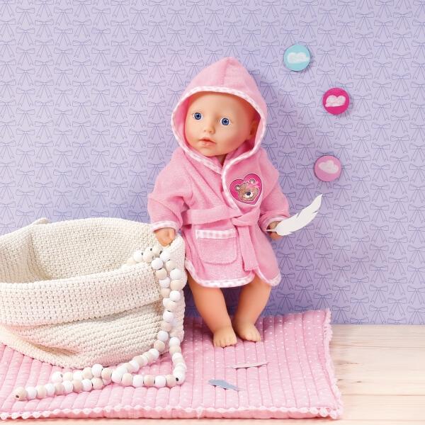 Zapf Dolly Moda Bademantel 30-36 cm ab 3 Jahren Babypuppen & Zubehör Kleidung & Accessoires