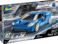 REVELL 07678 Modellbausatz Easy-Click 2017 Ford GT 1:24, ab 10 Jahre
