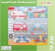 SpielMaus Holz Sound Holzpuzzle Straßenverkehr