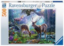 Ravensburger 14828 Puzzle: Hirsche im Wald 500 Teile
