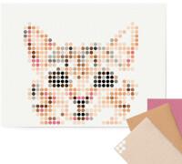 dot on art - DIY-Klebeposter, Bastelset, Stickerset - Motiv: Cat, 30x40 cm