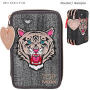 Depesche 10917 TOPModel 3-fach Federtasche Tiger Jeans