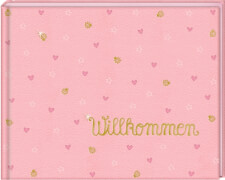 Babyalbum Willkommen, rosa (BabyGlück)
