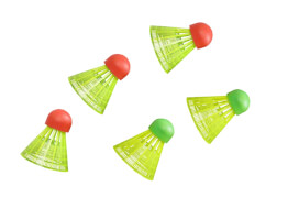 Hudora Ersatzball für Badmintonset HS-22, 5 Stück