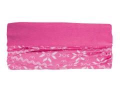 Multifunktionstuch Fleece Eisblume pink